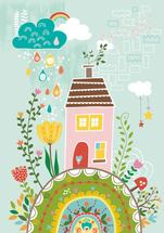 House on the Hilltop by YULLY ANA