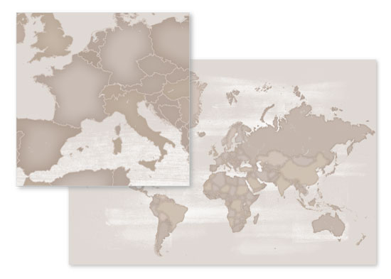 fabric - Rustic world map by Rosana Laiz · Blursbyai