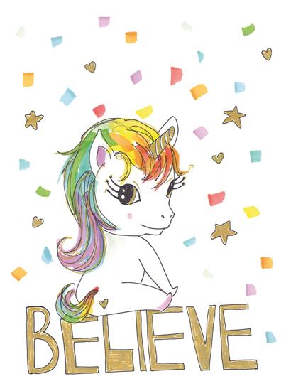 art prints - Believe in Unicorns by gukuuki
