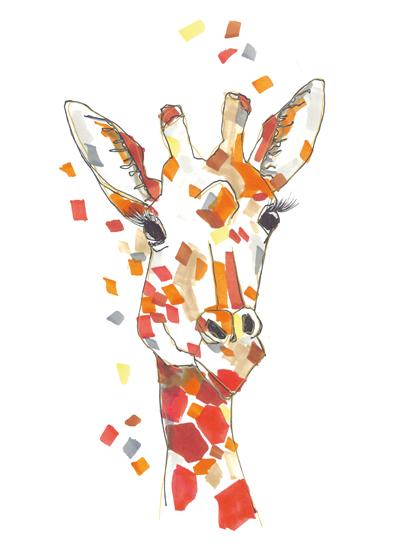 art prints - The graceful giraffe by gukuuki