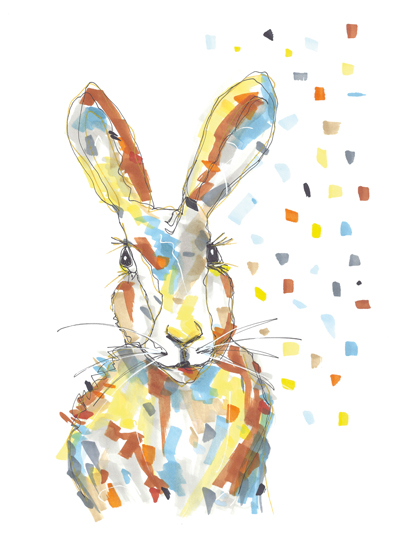 art prints - Hazel Easter Hare by gukuuki