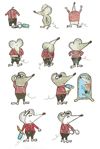 art prints - How to be a mime by erin mcgill