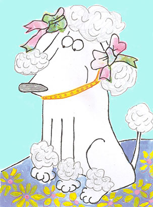 art prints - Petunia Poodle by erin mcgill