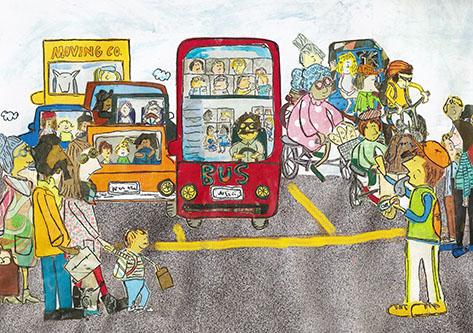 art prints - Street Scene by erin mcgill