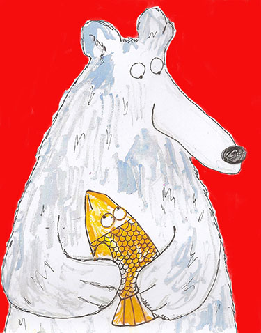 art prints - Mr. Dewey Bear by erin mcgill