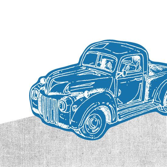 art prints - Vintage truck by Saksun