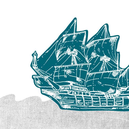 art prints - Vintage ship by Saksun