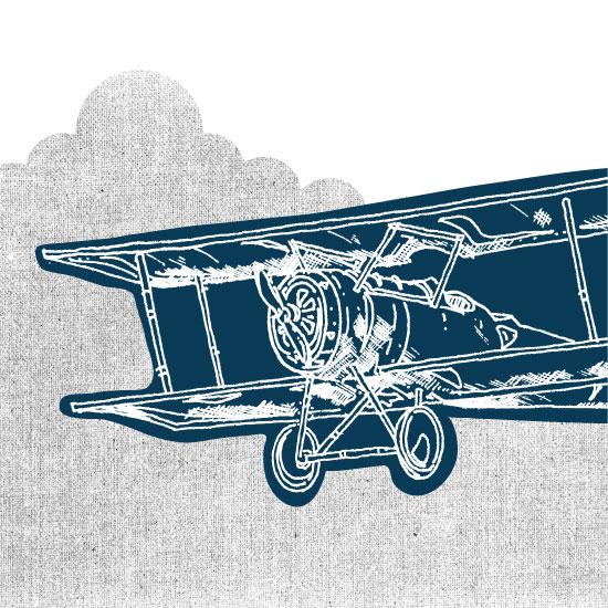 art prints - Vintage plane by Saksun