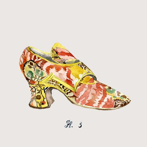 art prints - Rococo rocks! Shoe portrait, 3 by Sonya Percival