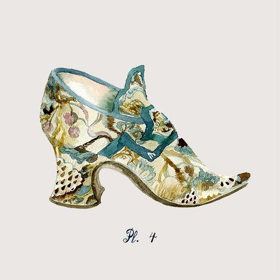 art prints - Rococo rocks! Shoe portrait, 4 by Sonya Percival