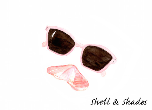art prints - Shell & Shades by SherbetPaperCo