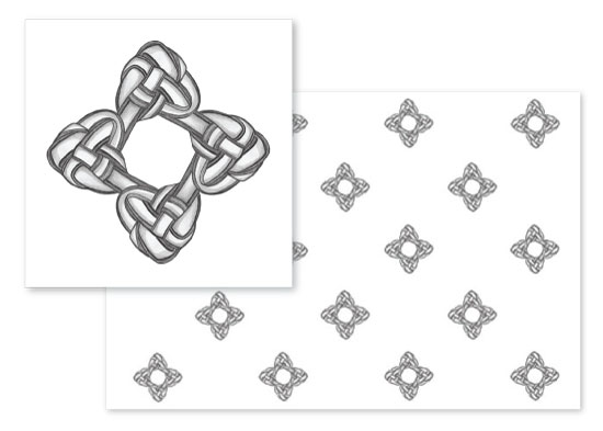 fabric - Endless Knot Star by Erin L Green