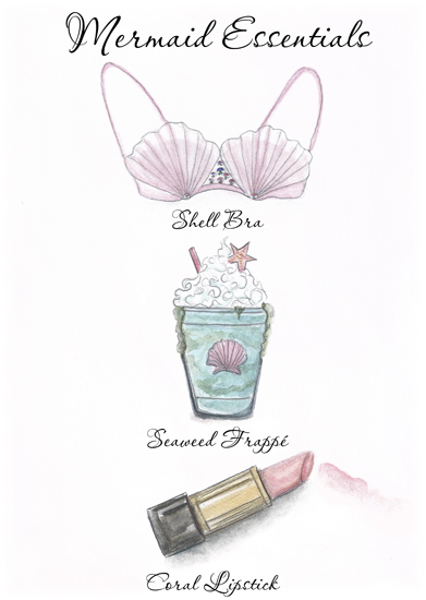 art prints - Mermaid Essentials by Kara Beth