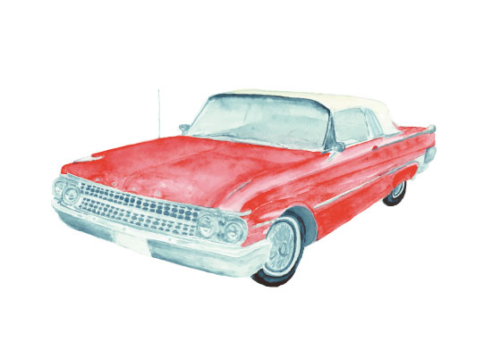 art prints - Retro Ford by Anna Liisa Moss
