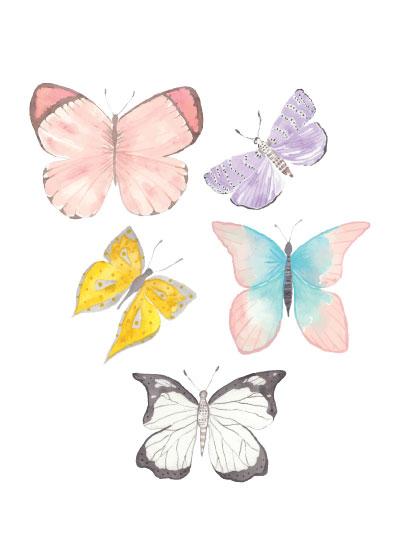 art prints - Pastel Butterflies by Anna Liisa Moss