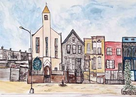 art prints - Brooklyn by Rebecca Bailey