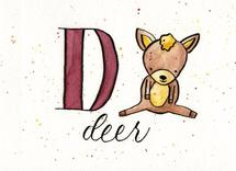 Whimsical Alphabet - D by Monica Bergler