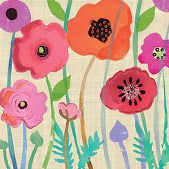 Multicolor Jungle of poppies