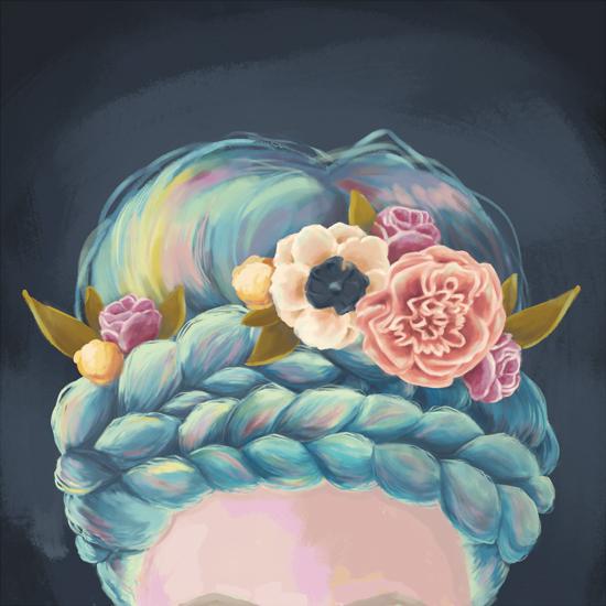 art prints - Rainbow Braids by Jessica DItri Mares