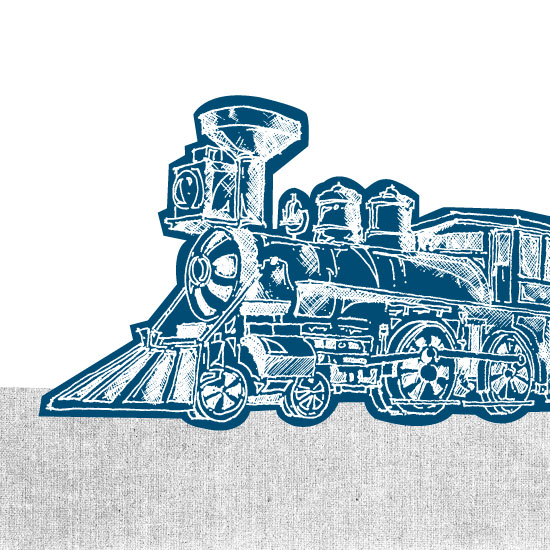 art prints - Vintage Train by Saksun