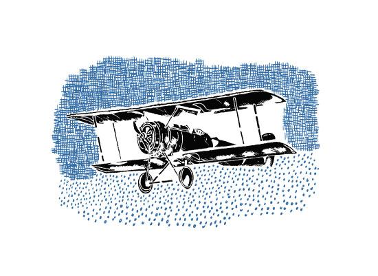 art prints - Vintage plane invert by Saksun