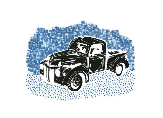 art prints - Vintage truck invert by Saksun