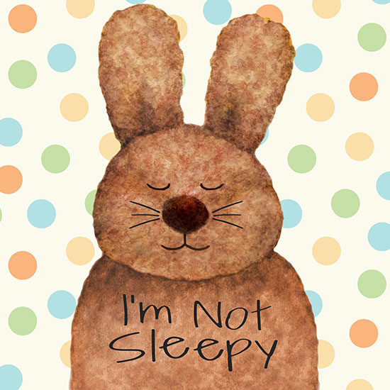 art prints - sleepy bunny by Diane Eichler