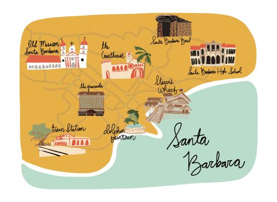 art prints - Santa Barbara by Salt and Light