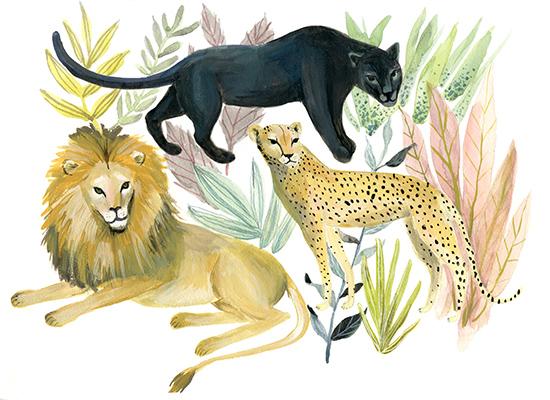 art prints - Wild Cats by Emilie Simpson