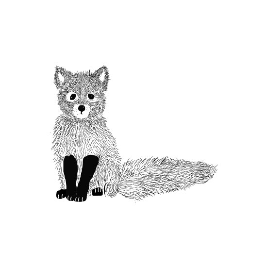 art prints - Foxy Bebe by Vani K Sobralske