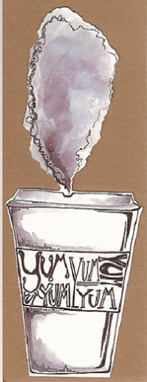 art prints - Steaming Coffee by Anna Kochevar
