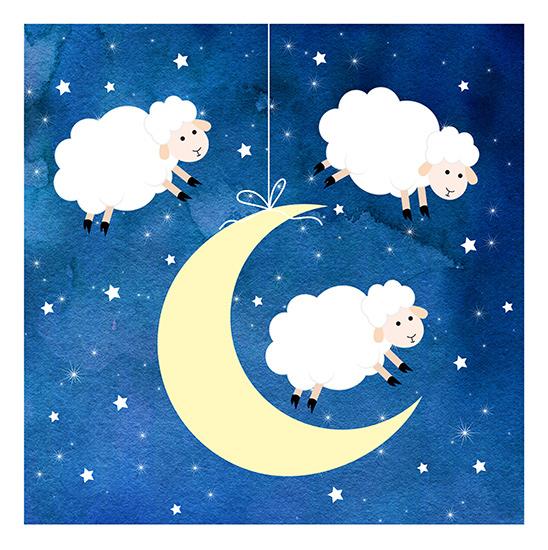 art prints - Sweet Dreams Sheep by Kathy Par