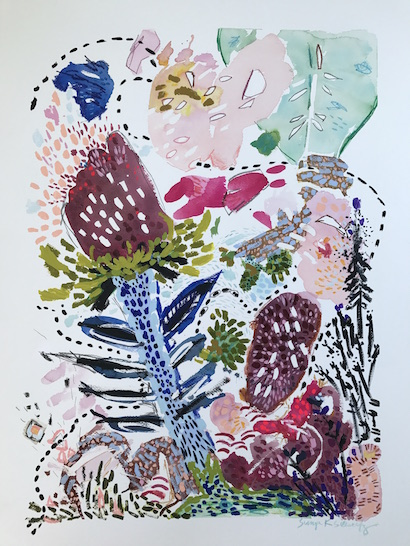 art prints - A Bee's Path by Sonya Schwartz