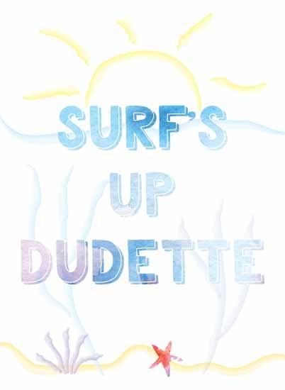 art prints - Surf's Up Dudette by Mindy Levin