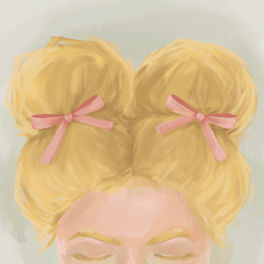 art prints - Pigtails and Bows by Jessica DItri Mares