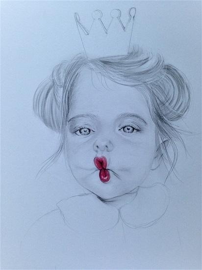 art prints - Little Fishy Lips by Liya Derkach