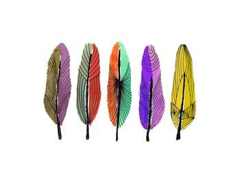 Art deco feathers