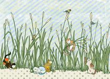 Catty Cats in Cattails by BreeAnn Veenstra
