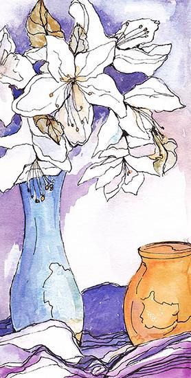 art prints - Flowers and Vases by Santie Amery