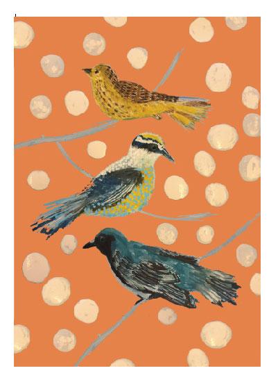 art prints - Birds of Three by Deborah Velasquez