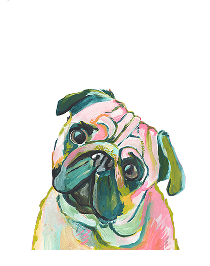 art prints - Mr. Pug by Makewells