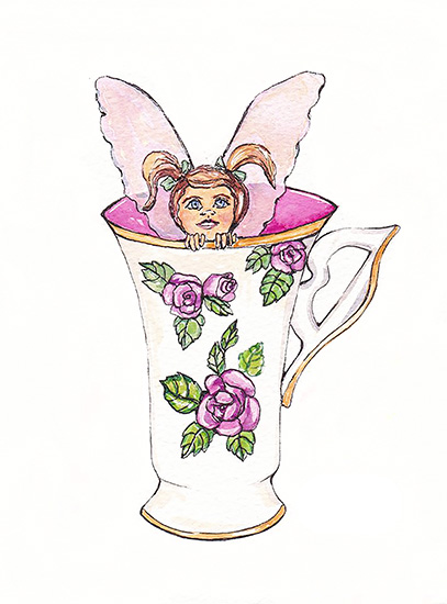 art prints - Cup Fairy by Santie Amery