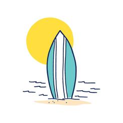 beach and board