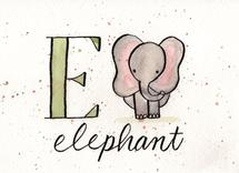 Whimsical Alphabet - E by Monica Bergler
