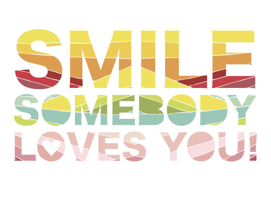 art prints - Smile, Somebody Loves You by Oh So Smitten