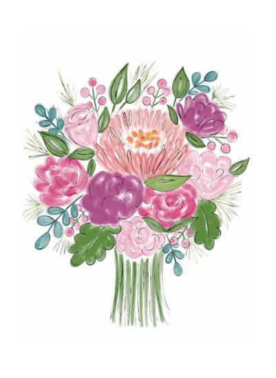 art prints - A Bunch of Blooms by Winnie Jean