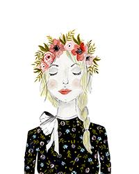 Girl with Floral Crown
