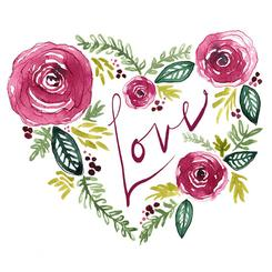 floral wreath love