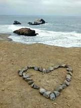 Beach heart by Nancy Gold