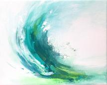 Turquoise Splash by Hannah Lowe Corman